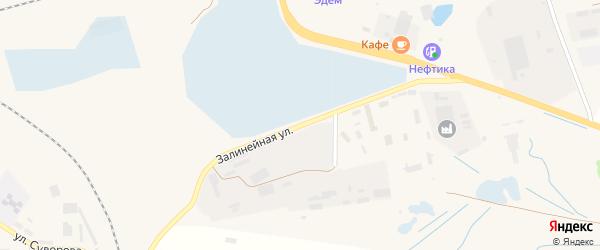 Залинейная улица на карте Унечи с номерами домов