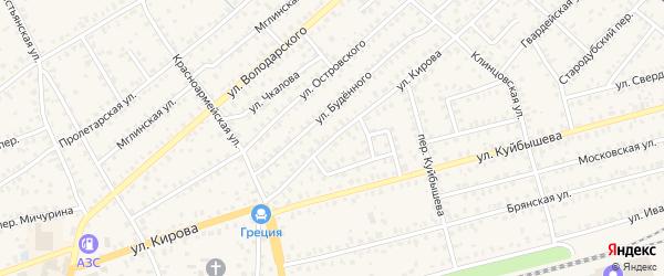 Улица Кирова на карте Унечи с номерами домов