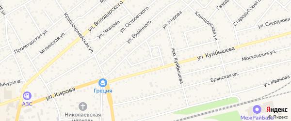 Улица Кржижановского на карте Унечи с номерами домов