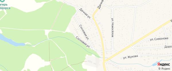 Сосновая улица на карте Унечи с номерами домов