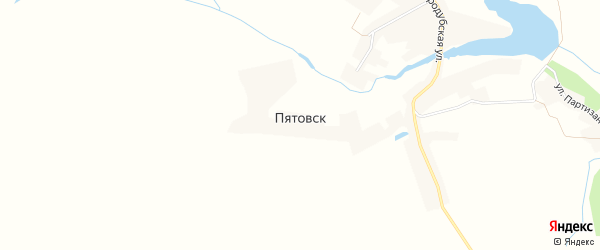 Карта села Пятовска в Брянской области с улицами и номерами домов