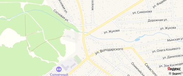 Переулок Володарского на карте Унечи с номерами домов