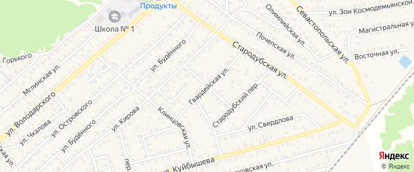 Улица Толстого на карте Унечи с номерами домов