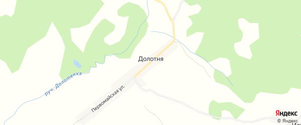 Карта деревни Долотни в Брянской области с улицами и номерами домов