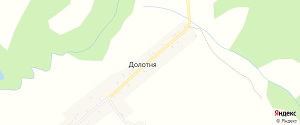 Первомайская улица на карте деревни Долотни с номерами домов