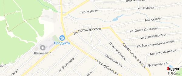Почепский переулок на карте Унечи с номерами домов