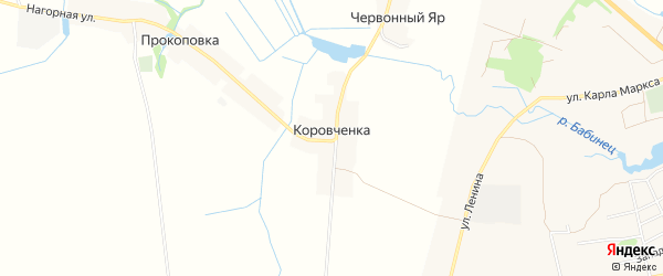 Карта хутора Коровченки в Брянской области с улицами и номерами домов