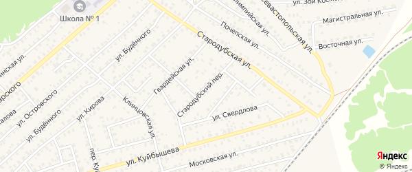 Стародубский переулок на карте Унечи с номерами домов