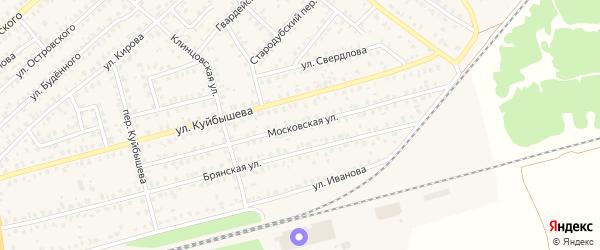 Московская улица на карте Унечи с номерами домов