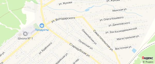 Улица Энергетиков на карте Унечи с номерами домов