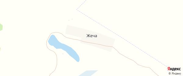 Лесная улица на карте поселка Жечи с номерами домов