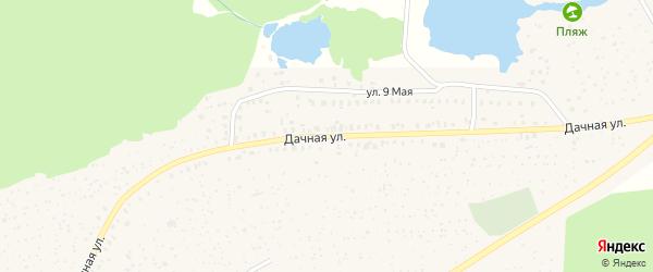 Дачная улица на карте Унечи с номерами домов