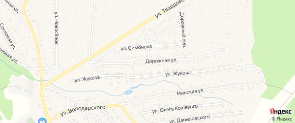 Дорожная улица на карте Унечи с номерами домов