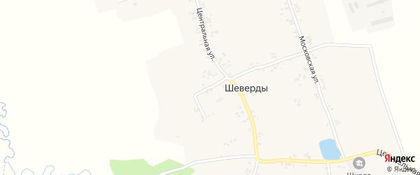 1-й Центральный переулок на карте села Шеверды с номерами домов