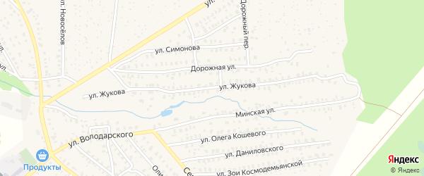 Улица Жукова на карте Унечи с номерами домов