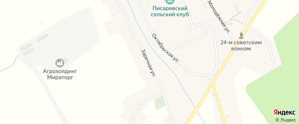 Заречная улица на карте села Писаревки с номерами домов