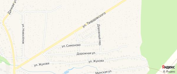 Улица Фадеева на карте Унечи с номерами домов