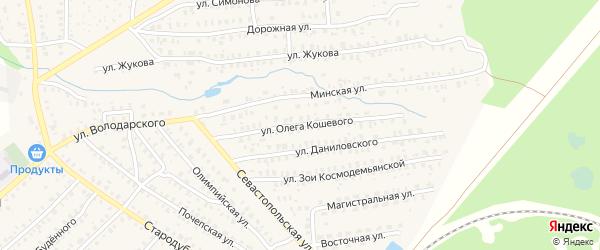 Улица Олега Кошевого на карте Унечи с номерами домов