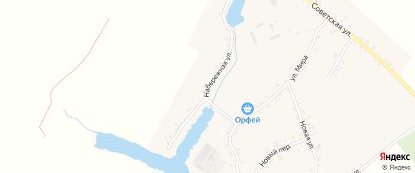 Набережная улица на карте села Остроглядово с номерами домов