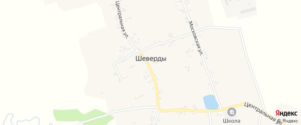2-й Центральный переулок на карте села Шеверды с номерами домов
