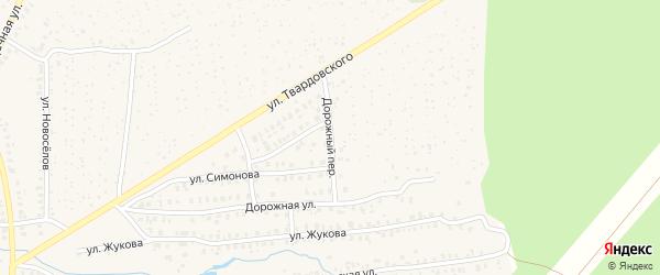 Дорожный переулок на карте Унечи с номерами домов