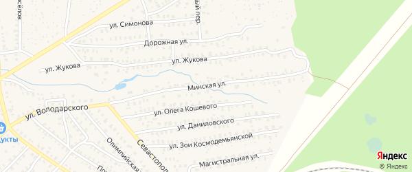 Минская улица на карте Унечи с номерами домов