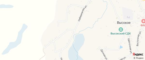 Набережная улица на карте Высокого села с номерами домов