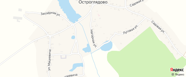 Нагорная улица на карте села Остроглядово с номерами домов