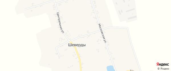 1-й Московский переулок на карте села Шеверды с номерами домов