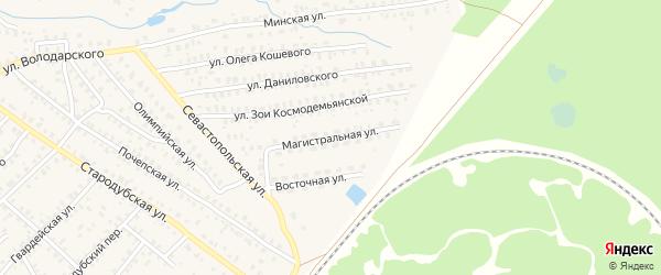 Магистральная улица на карте Унечи с номерами домов