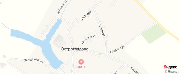 Новый переулок на карте села Остроглядово с номерами домов