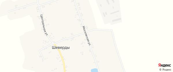 Московская улица на карте села Шеверды с номерами домов
