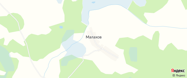 Карта хутора Малахова в Брянской области с улицами и номерами домов