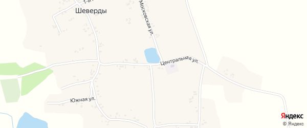 Центральная улица на карте села Шеверды с номерами домов