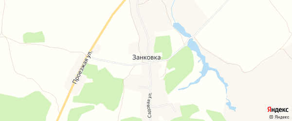 Карта села Занковки в Брянской области с улицами и номерами домов