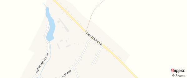 Советская улица на карте села Остроглядово с номерами домов