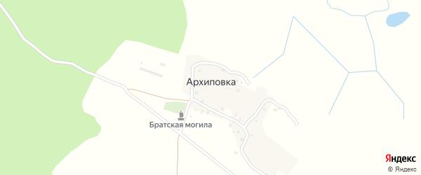 Речная улица на карте деревни Архиповки с номерами домов