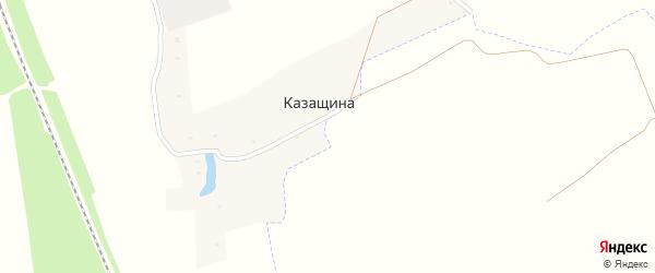 Первомайская улица на карте поселка Казащина с номерами домов