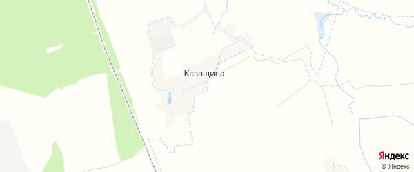 Карта поселка Казащина в Брянской области с улицами и номерами домов