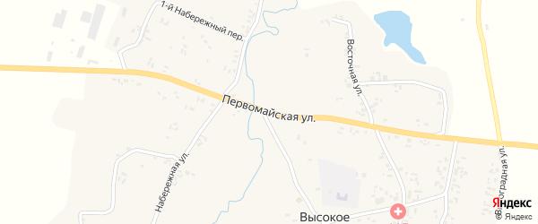 Первомайская улица на карте Высокого села с номерами домов