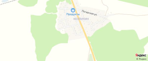 Белорусская улица на карте Унечи с номерами домов