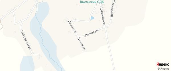 Дачная улица на карте Высокого села с номерами домов