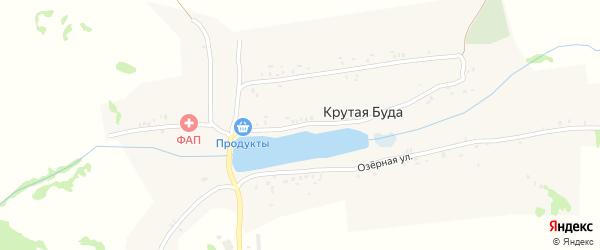 Набережная улица на карте села Крутой Буды с номерами домов