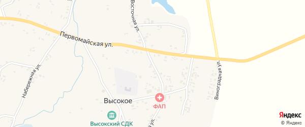 Восточная улица на карте Высокого села с номерами домов