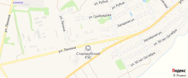 Территория БГ ул Ленина 124-д на карте Стародуб с номерами домов