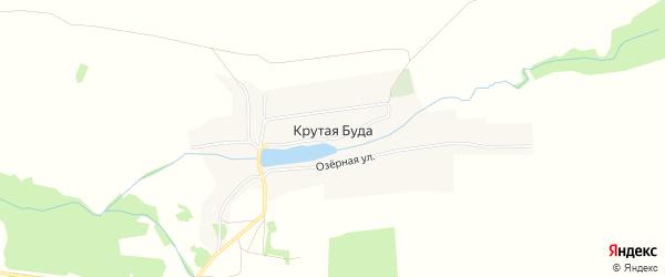 Карта села Крутой Буды в Брянской области с улицами и номерами домов