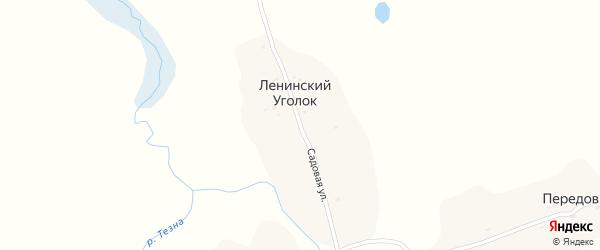 Садовая улица на карте поселка Ленинского Уголка с номерами домов