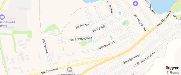 Улица Грибоедова на карте Стародуб с номерами домов