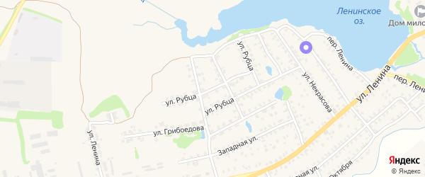 Улица Рубца на карте Стародуб с номерами домов