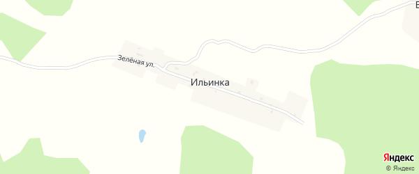 Зеленая улица на карте поселка Ильинки с номерами домов